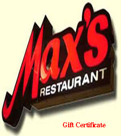 Max's Gift Certificate