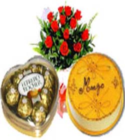 cake,ferrero with red roses
